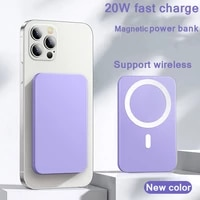 15w magnetic wireless power bank pd20w fast charging for iphone12 13 portable mobile charger external battery 1000mah powerbank