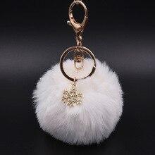 Porte-clés à la mode belle Pom Pom coeur mignon gland en peluche moelleux Faux vison fourrure porte-clés Adorable sac breloques porte-clés cadeau