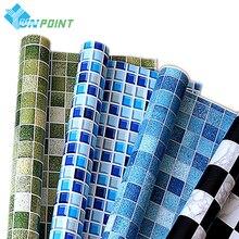Papier peint auto-adhésif imperméable PVC 5M /10M   Autocollants muraux pour cuisine salle de bain toilettes, autocollant carreaux, Film décoratif motif mosaïque