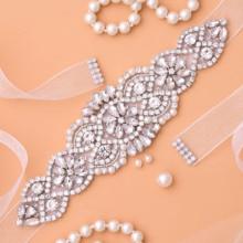 SESTHFAR-Cinturón de novia con diamantes de imitación, faja de boda de cristal, accesorios para vestido de novia