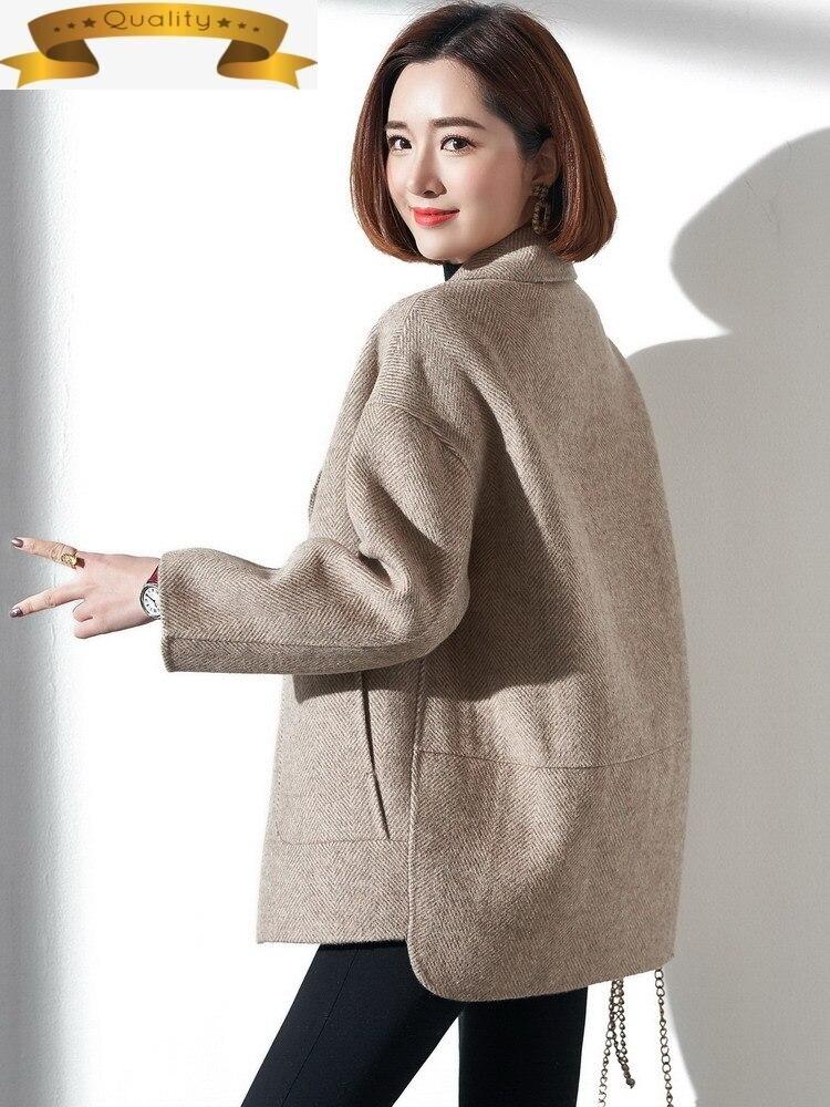 Abrigo de lana hecho a mano para Mujer, chaqueta de gran tamaño...