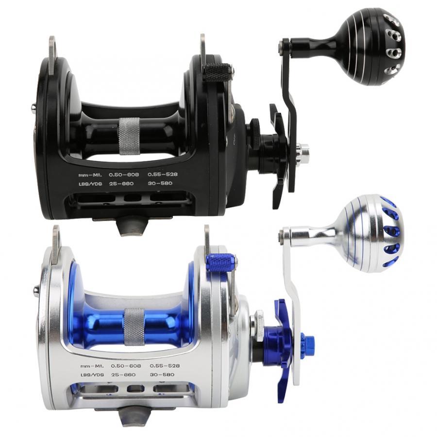 Carrete de pesca 6 + 1 rodamiento de precisión anticorrosión aleación de aluminio rueda de pesca 4,1 1 Relación de engranaje carrete aparejos de pesca de mar