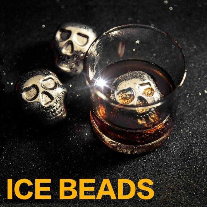 Enfriador de cerveza con forma de Calavera, cubo de hielo congelado, Enfriador...
