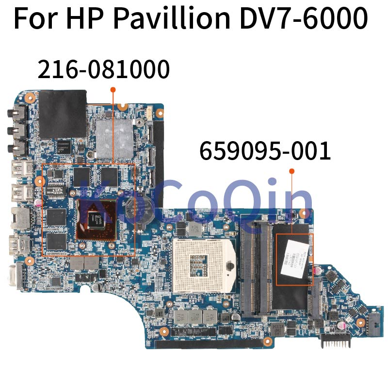 KoCoQin DV7-6000 اللوحات الأم 659095-001 655488-001 ل hp بافيليون DV7 DV7-6000 655488-001 HM65 الأصلي اختبار اللوحة الأم