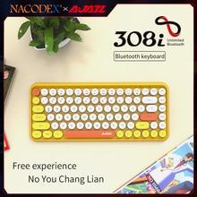 AJAZZ NACODEX  308I 84 Keys Bluetooth Wireless keyboard  Retro Typewriter Round Key for Win/iOS/Andr