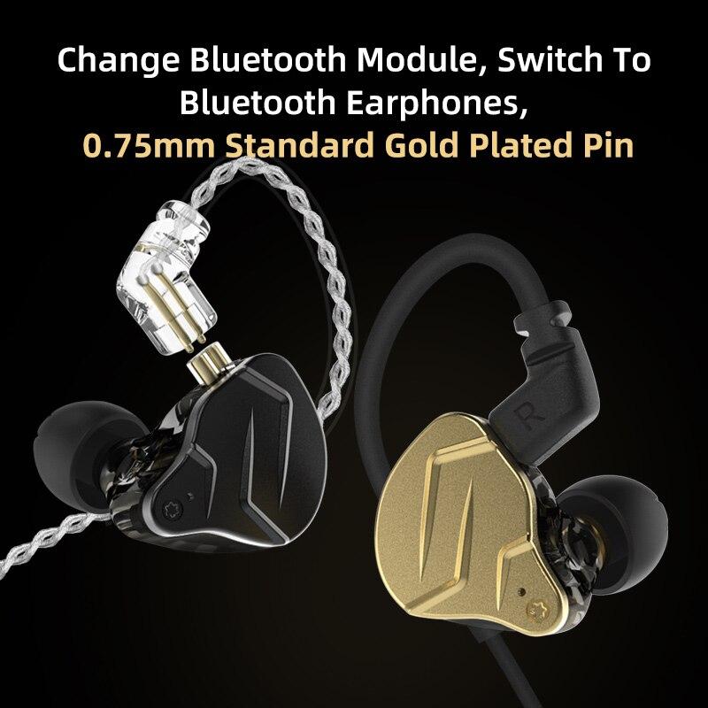 KZ ZSN Pro X Metal Earphones 1BA+1DD Hybrid technology HIFI Bass Earbuds In Ear Monitor Headphone Sport Noise Cancelling Headset enlarge