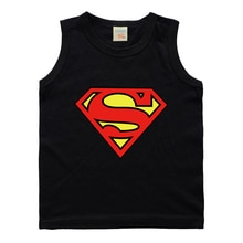 New Children Baby Boys Cartoon Superman Vests T-shirts For Kids Girls Super hero sleeveless tops Printing Cotton Summer Clothes