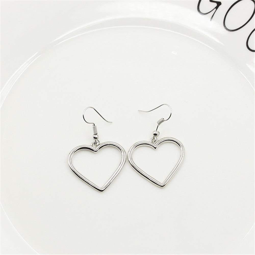 Серьги-подвески женские в форме сердца, полые Ювелирные украшения для пирсинга, модные ювелирные изделия для ушей, A197