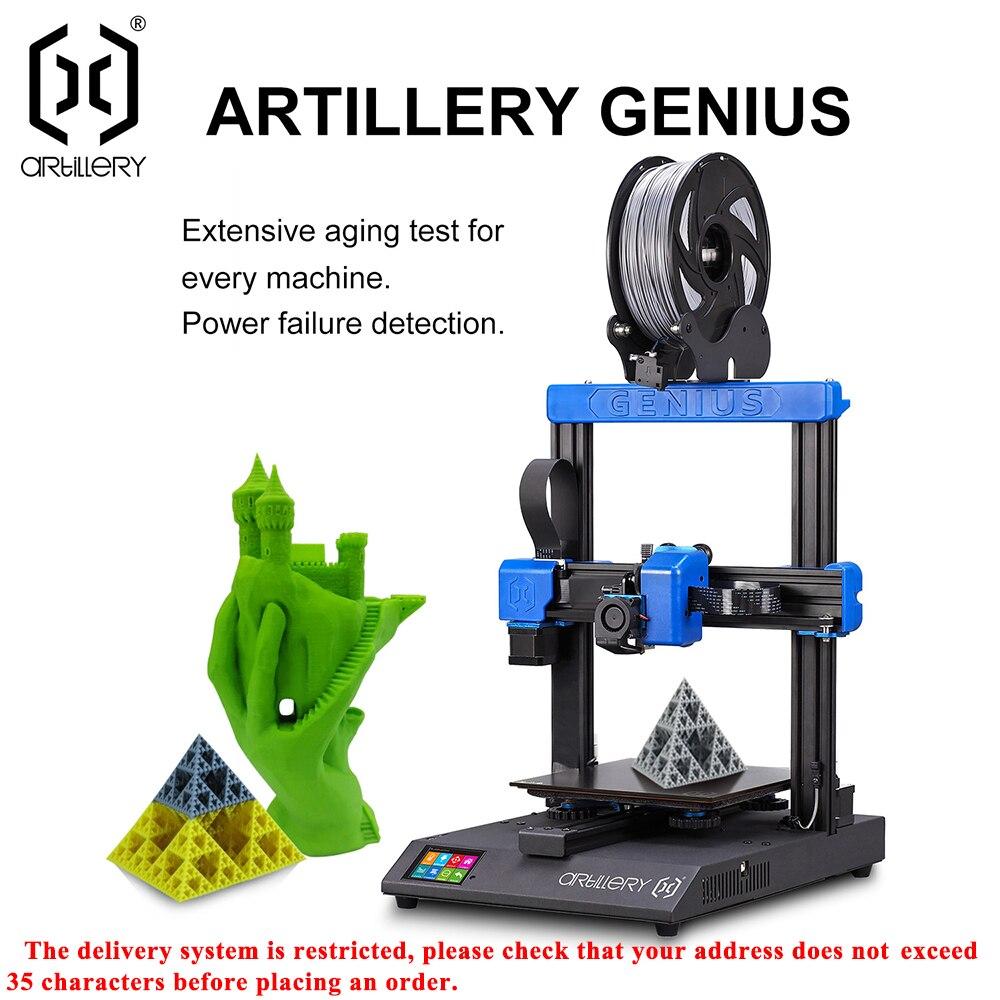 Artillery 3d printer kit GENIUS 220X220X250mm Size Desktop level High Precision Dual Z axis TFT Screen