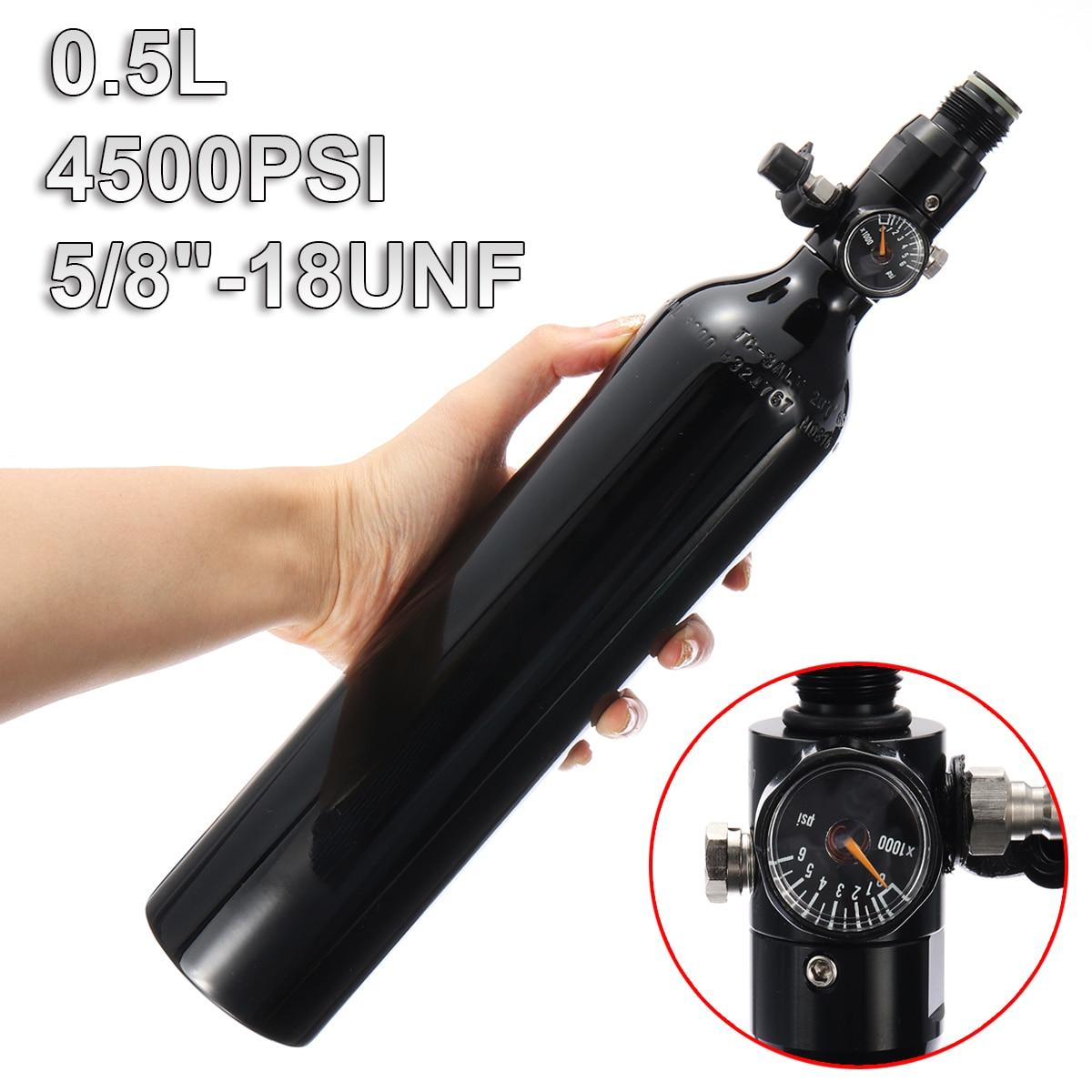 Paintball PCP Zylinder Tank 4500psi 0,5 L Hohe Druckluft Flasche W/Regler