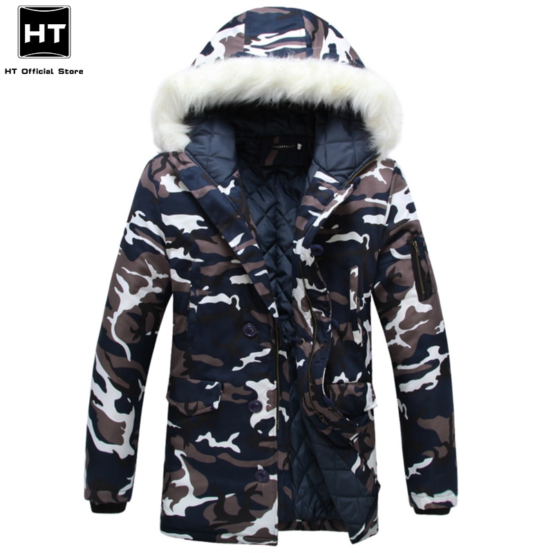 2021 New Winter Faux Fur Hooded Jacket Parka Coat Men Casual Bomber Military Outwear Autumn Thick Wa