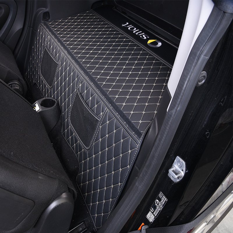 2015-2019 Car Trunk Mat For Mercedes Smart 453 fortwo Interior Leather Protection Pad Decoration Car Logo Styling Accessories