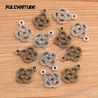 20pcs 1317mm two color metal zinc alloy small hollow lace charms fit jewelry medical pendant charms makings