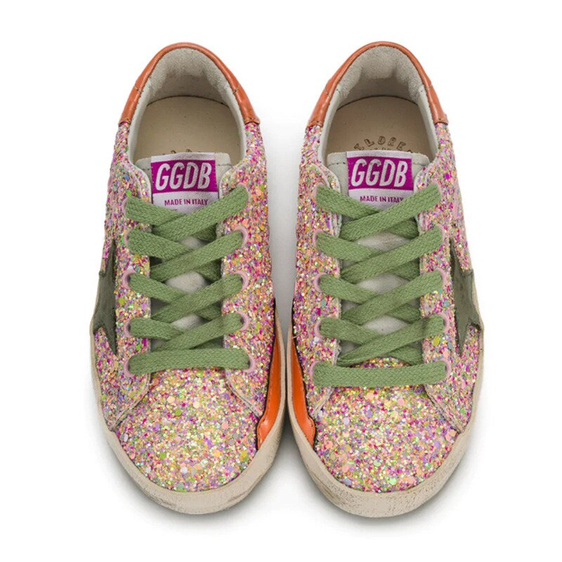 2021 Spring and Summer New Color Sequins Children's Old Small Dirty Shoes for Boys and Girls Casual Fashion Kids Shoes CS212 enlarge