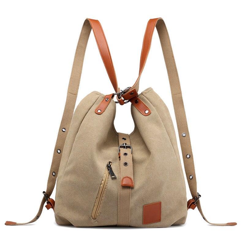 Женская Холщовая Сумка высокого качества, многофункциональная женская сумка на плечо, студенческий рюкзак, большая вместительность, школьные дорожные сумки