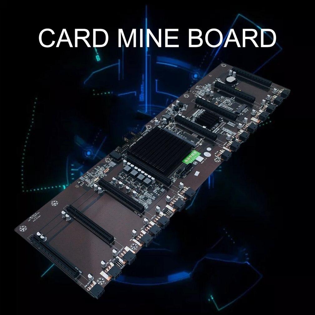شريحة HM65 ذات 8 فتحات لبطاقة BTC ، مكثف حالة صلبة ، دعم اللوحة الأم متعددة الرسومات 1660 / 2070 / 3090 /Rx580 ، جديد