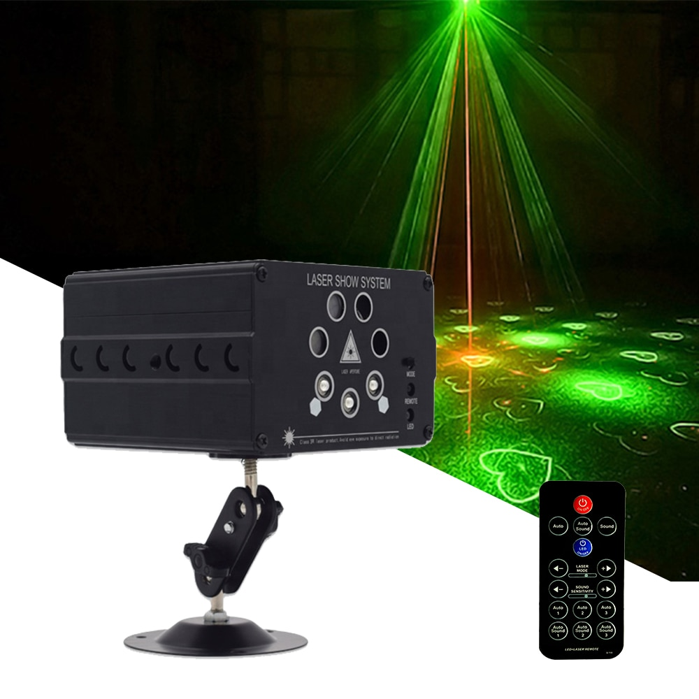 Disco LED DJ Laser Lights 7 Lens 120 Pattern Stage Lighting Effect For Stage Decoration RGB Colorful Light For Wedding Party Bar disco dj light co2 gun pistola co2 rgb gun co2 airsoft air guns jet machine for christmas halloween wedding party stage effect