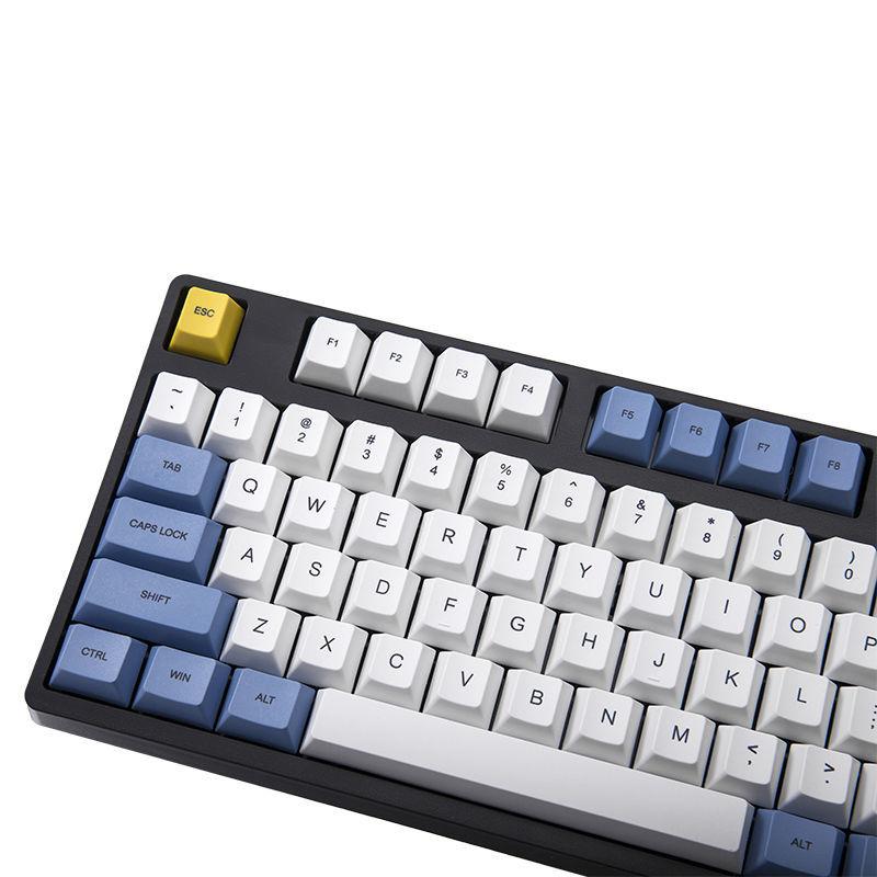 108 Key Starry Night Blue Keycap Cherry Height PBT Sublimation Cherry MX 5.0/6.0/8.0 Mechanical Keyboard Keycap IKBC 87/104/108