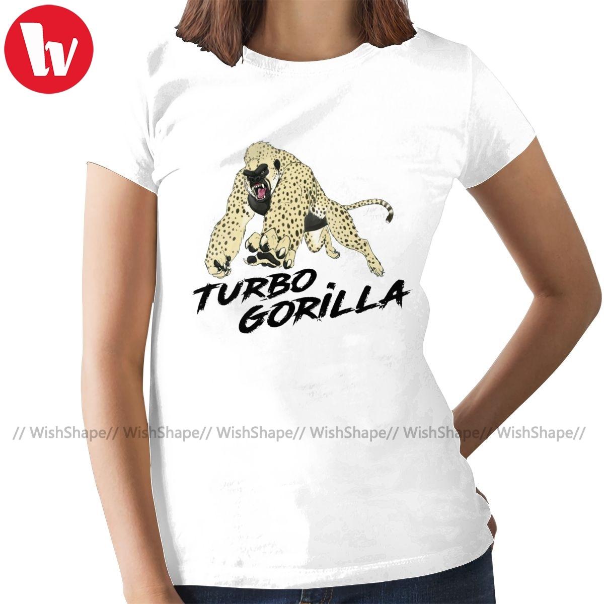 Gorilla T-Shirt The Turbo Gorilla By Racecar T Shirt Street Wear Short-Sleeve Women tshirt Ladies Tee Shirt