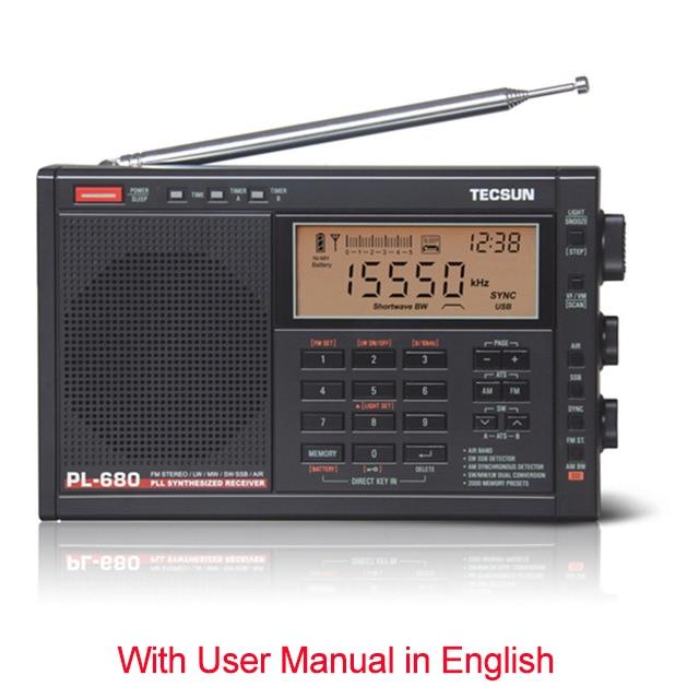 Tecsun PL-680 fm راديو المحمولة عالية الأداء الكامل الفرقة الرقمية ضبط ستيريو راديو FM AM SW SSB راديو استقبال