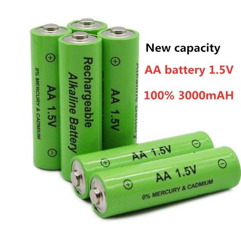 1-20 pezzi 100% nuova batteria AA 3000 MAH 1.5V batteria ricaricabile AA 3000 MAH Ni MH batteria ricaricabile 1.5V