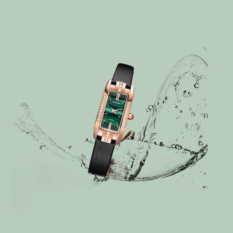 ROCOS Women Import Waterproof Quartz Watch Fashion Square  Elegant Ladies Wristwatch Diamond Luxury Brand Watch R0209S enlarge
