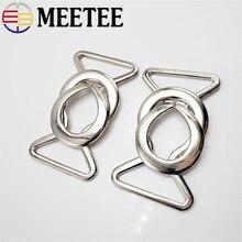 2/4/10pc Meetee 23/31mm boutons en métal manteau bouton en cuir connecter boucle pour sacs de vêtement vêtements couture artisanat fournitures AP2213