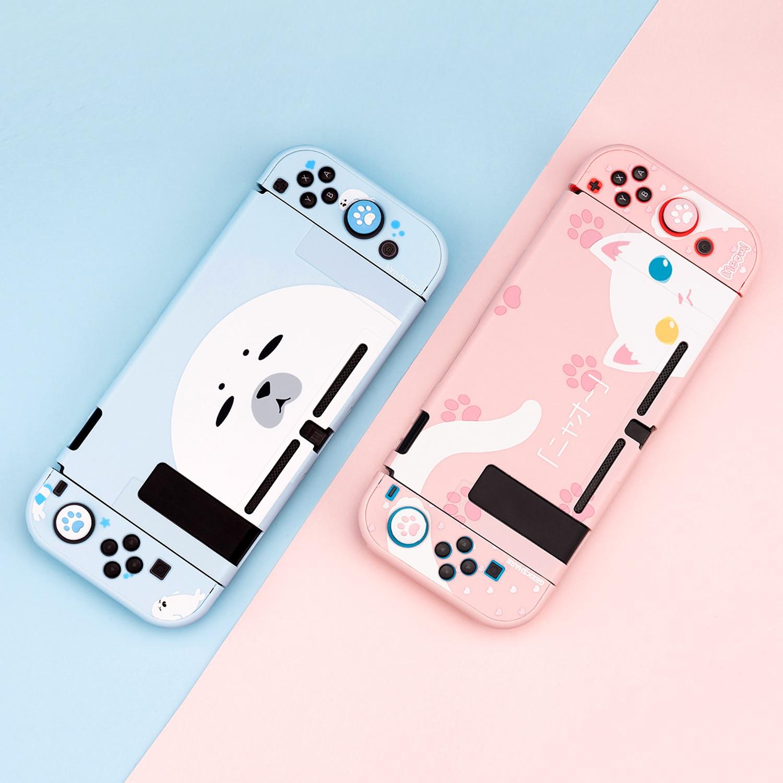 Carcasa para Nintendo Switch foca Linda Cat, carcasa completa Con controlador Joy-Con, carcasa rígida para Nintendo Switch, accesorios