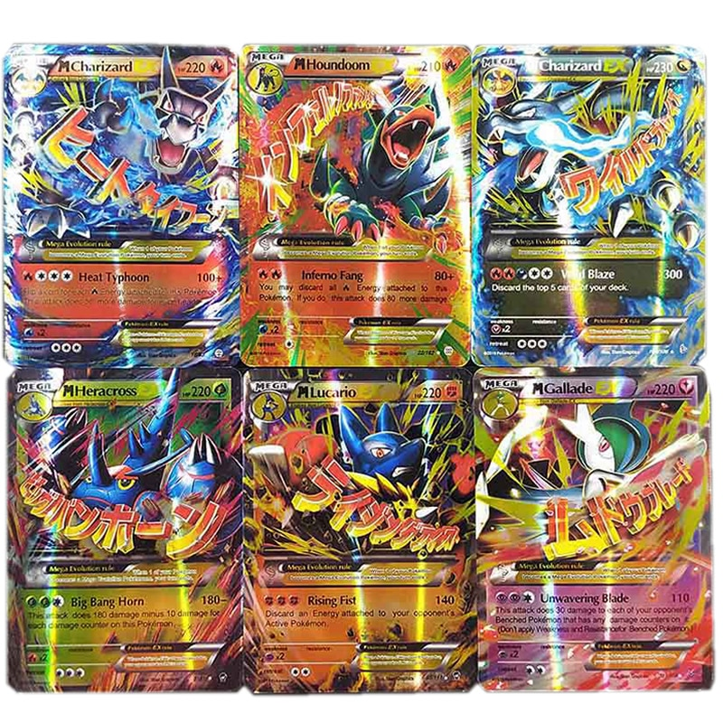 30PCS TAKARA TOMY Pokemon Card VMAX GX EX MEGA Booster English Battle Trading Game Shining Card Top Loaded List Toy Gift For Kid