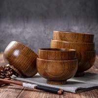 wooden noodles rice soup bowl food storage container kitchen tableware gadget salad bowl household kitchen bowl