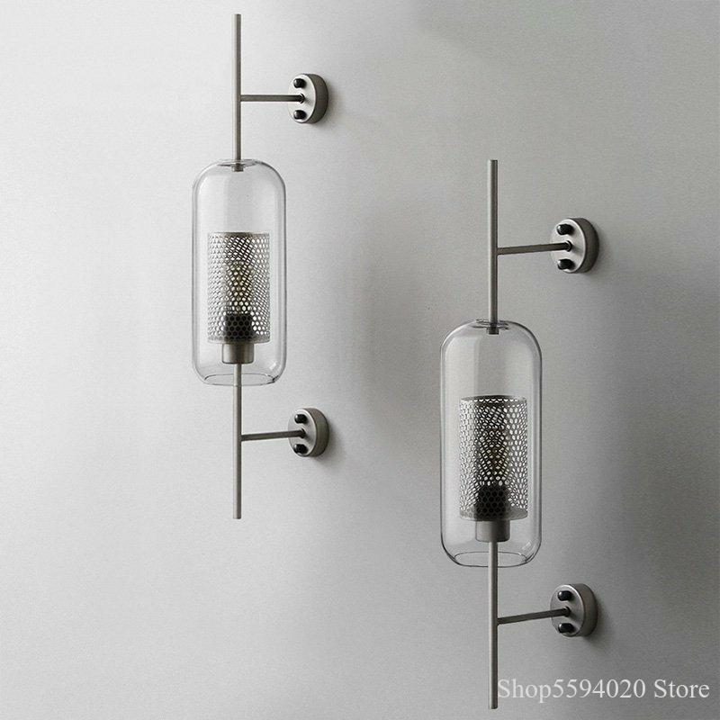 مصباح حائط زجاجي صناعي حديث ، مصباح حائط مزخرف ، طراز قديم ، مثالي للدور العلوي أو غرفة المعيشة أو غرفة النوم أو غرفة الطعام أو غرفة النوم.