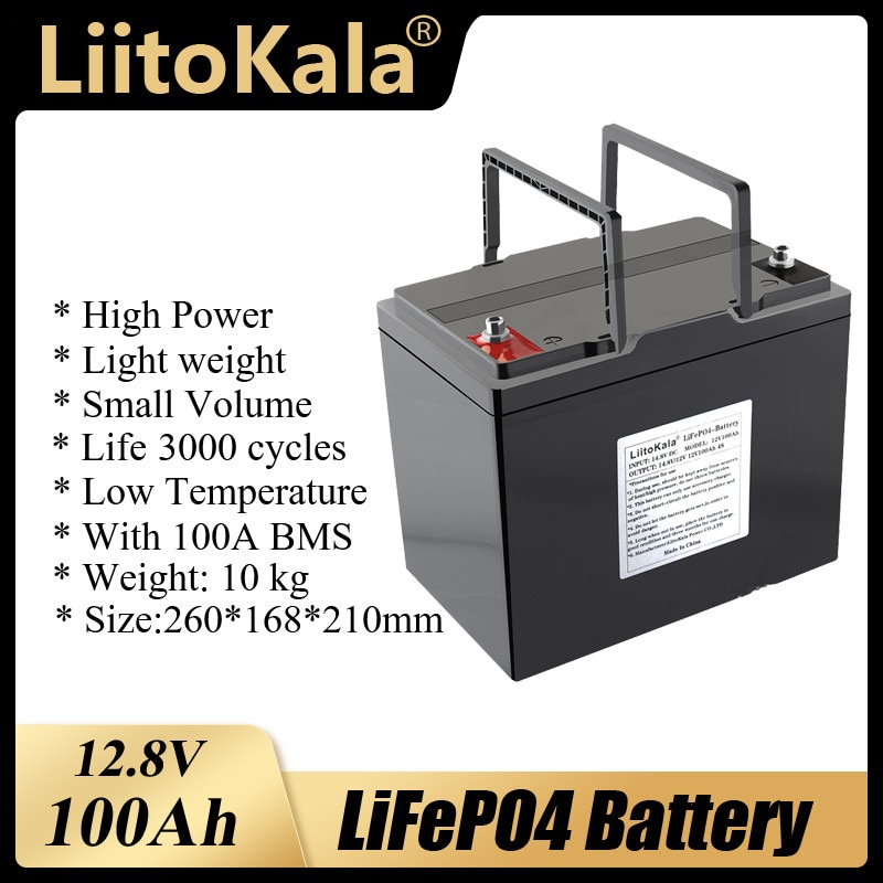 Аккумуляторная батарея LiitoKala, 12 В, 12,8 Ач, 3000 в