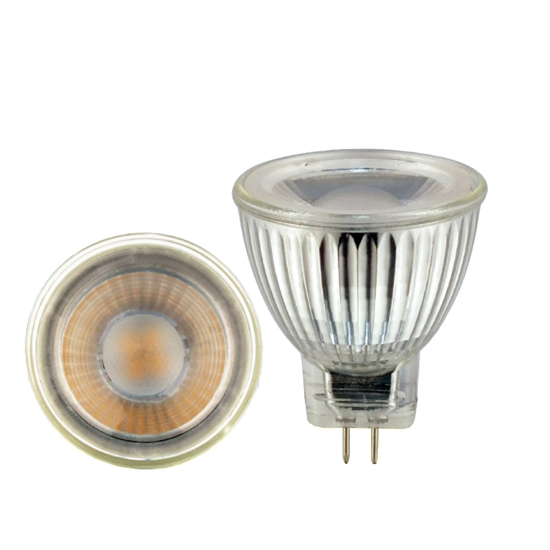 10pcs lot mr16 led spot light glass body ac dc12v 5w dimmable cob led spotlight bulb warm white cold white High quality MR11 COB LED light bulb 5W AC/DC 12V 220V Dimmable Ceiling lamp led Spotlight Warm/Natural/Cold White GU4 LED lamp