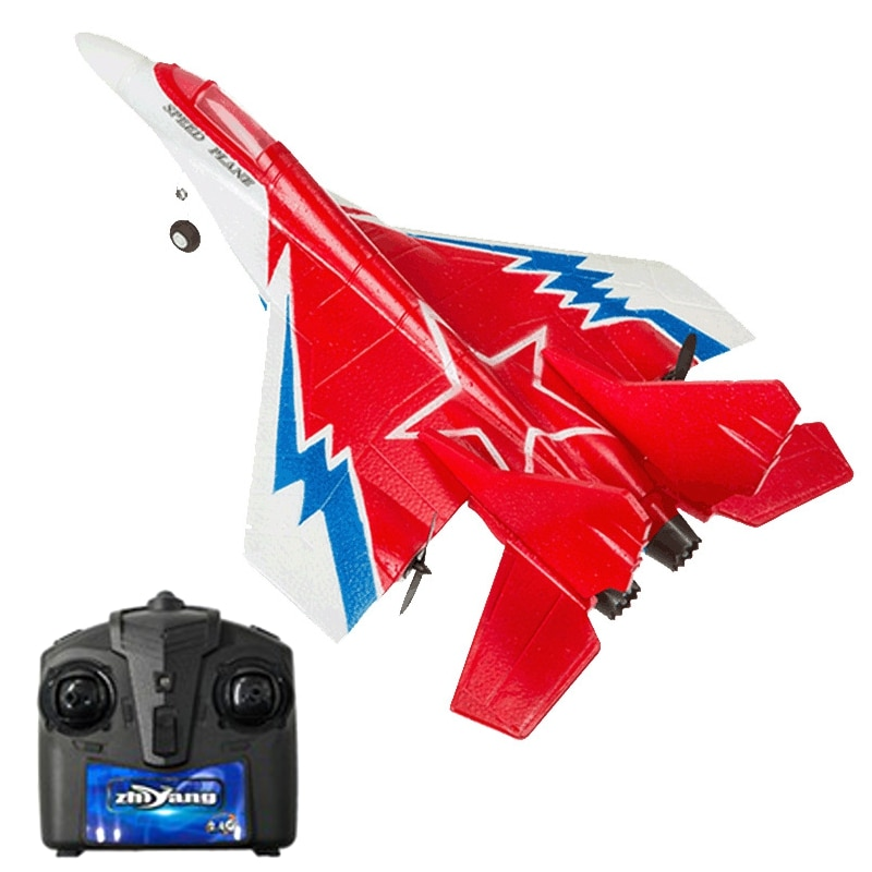 40mm Wingspan EPP RC Glider War Aircraft RTF With LED Mode 2 Night Flight Airplane enlarge