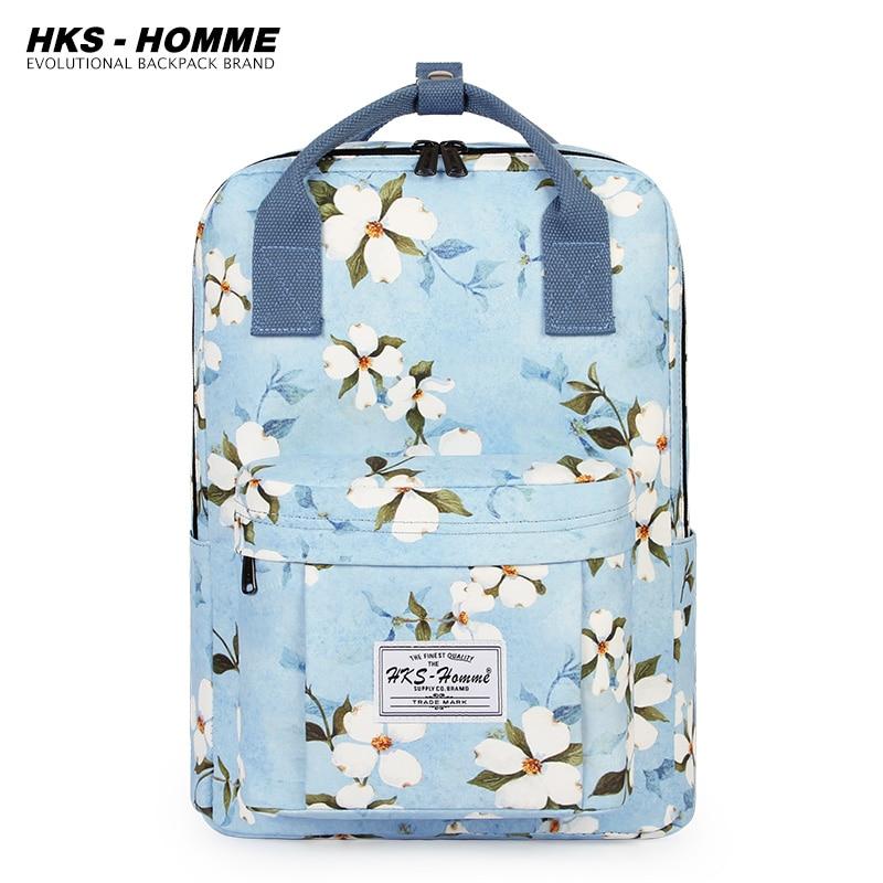 2021 New Printing Lovely Multifunctional Backpack Teenage Girl Ring buckle Portable Travel Bag Female Schoolbag Women Backpacks