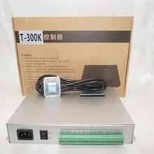 Carte SD T300K en ligne VIA le contrôleur de module de pixel led polychrome rvb T-300K 8ports 8192 pixels ws2811 ws2801 ws2812b bande led