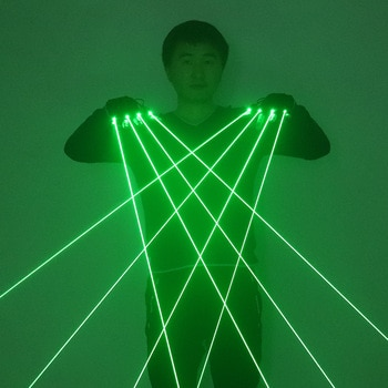 Green Laser Gloves Laser Beam Flash Finger,Nightclub Bar Party Dance Singer Props DJ Mechanical Gloves LED Light