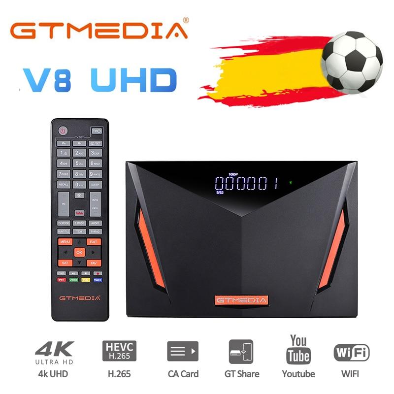 GTmedia V8 UHD تلفزيون استقبال الأقمار الصناعية صندوق التلفزيون DVB S2 T2 4K الترا HD ، بنيت في دعم واي فاي CCAM 、 M3U ، الأسهم في أمريكا إيطاليا ألمانيا
