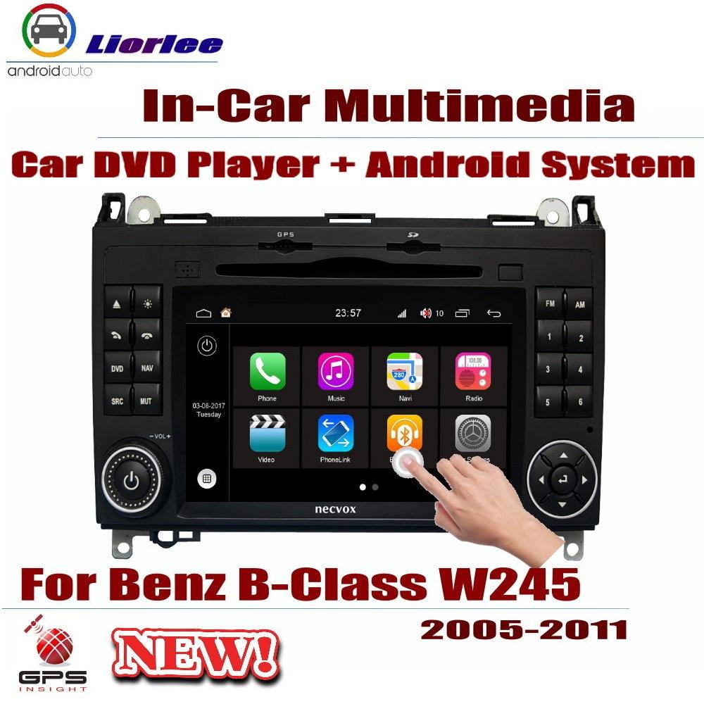 Rádio do carro dvd player gps navegação para mercedes benz b-classe w245 2005-2011 android displayer sistema estéreo na unidade da cabeça do traço