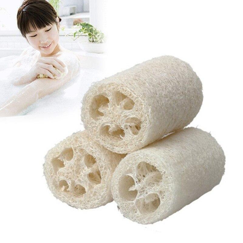3 unids/set de esponja para frotar de ducha Natural Luffa Loofa masaje de baño esponja corporal exfoliante