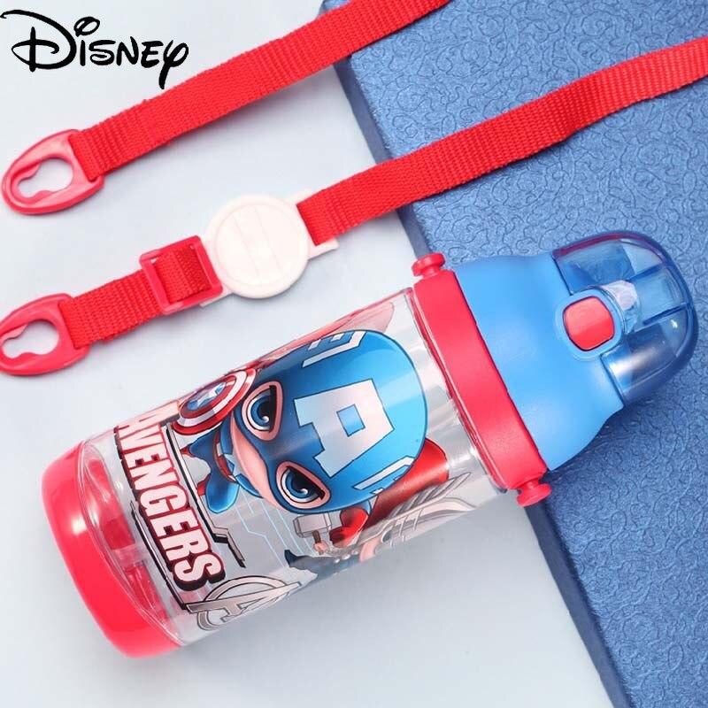 Original Disney Children's Water Cup Straw Cup Kindergarten Baby Drinking Cup Fall-proof Summer Baby Water Bottle Kid Kettle