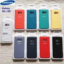 Samsung Galaxy S8 Plus coque originale Style Ofiice coque Silicone liquide coque soyeuse finition solf-touch pour S8 + S8 Plus avec boîte