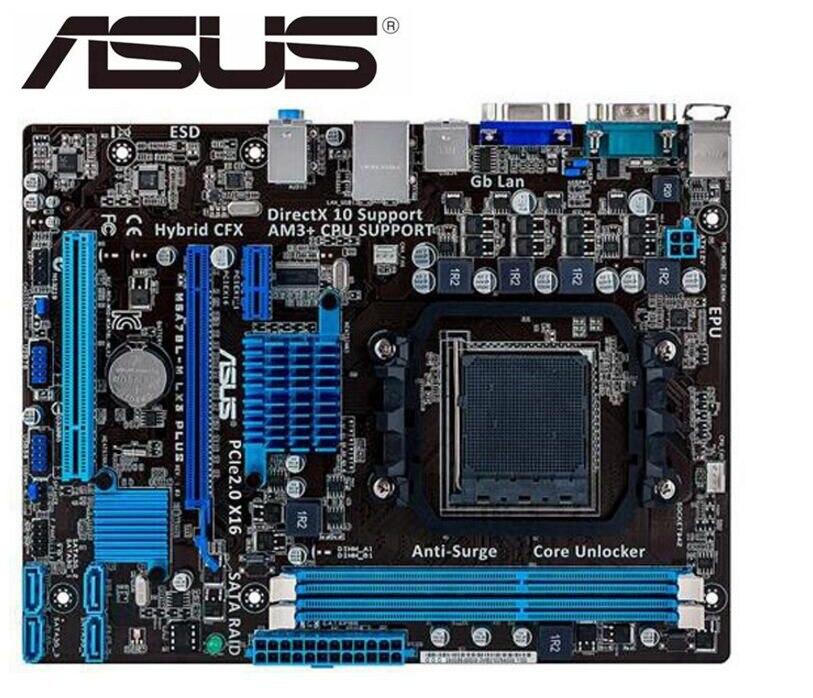 Desktop Motherboard USED for ASUS M5A78L-M LX3 PLUS original motherboard Socket AM3+ DDR3 USB2.0 SATAII 16GB