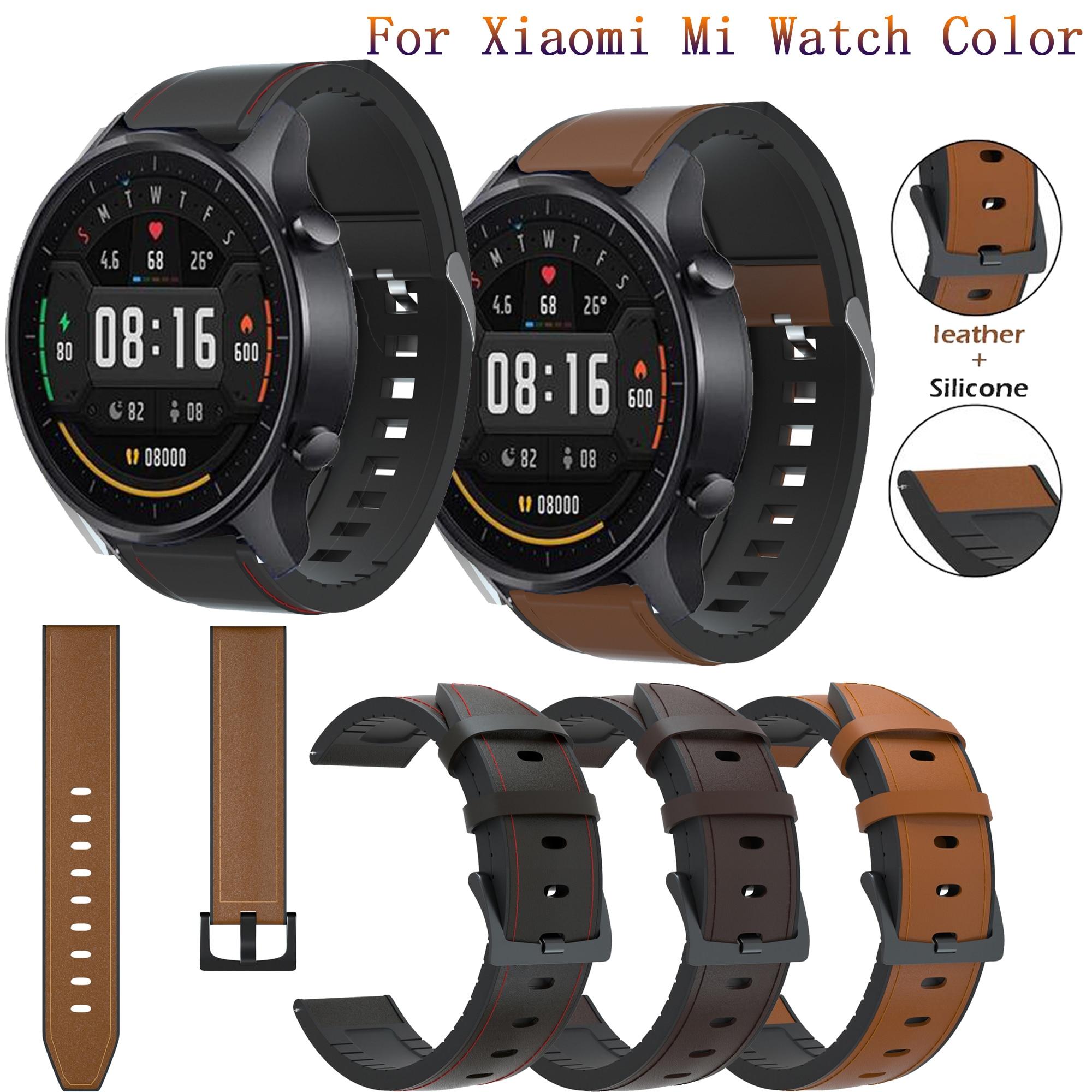 Correa de cuero de lujo para Xiaomi MI Watch, pulsera de Color...