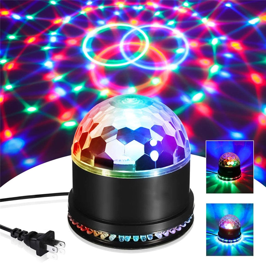 led disco light 18w dmx 512 dj rgb led party lights sound actived remote control disco lamp color changing stage lamp wedding Mini RGB 5W Crystal Magic Ball Led Stage Lamp Sound Actived Auto DJ KTV Disco Laser Stage Effect Light Party Christmas Lights