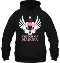 Printed CHURCH OF MADOKA Sleeve Streetwear men women Hoodies Sweatshirts