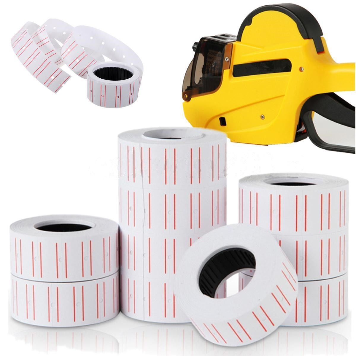eco friendly self adhesive 250 labels roll name tag label roll labels stickers 10 Rolls (500 Labels/Roll) White Self Adhesive Price Label Tag Sticker Office Supplies 20x12mm Price Label Paper Tag Sticker