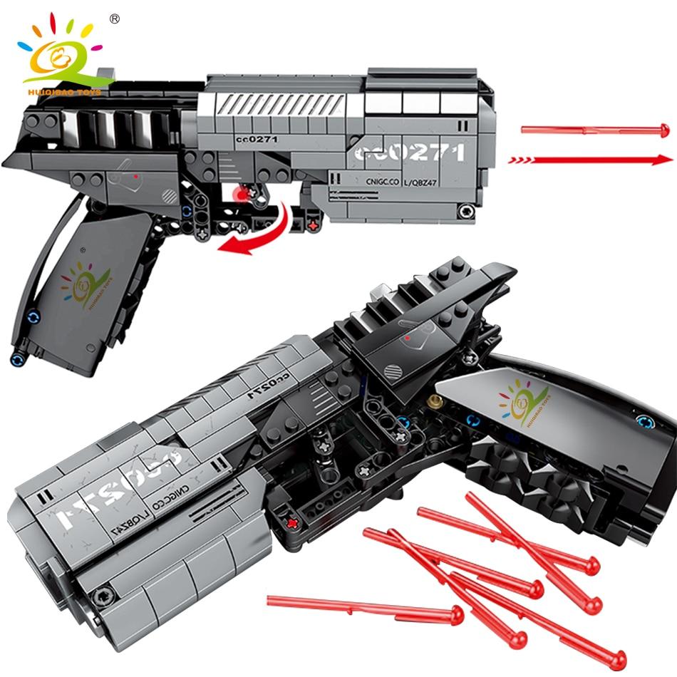HUIQIBAO 431PCS Wandering Earth Signal Gun Game Building Blocks City Brick DIY Shooting Educational Toys For Children