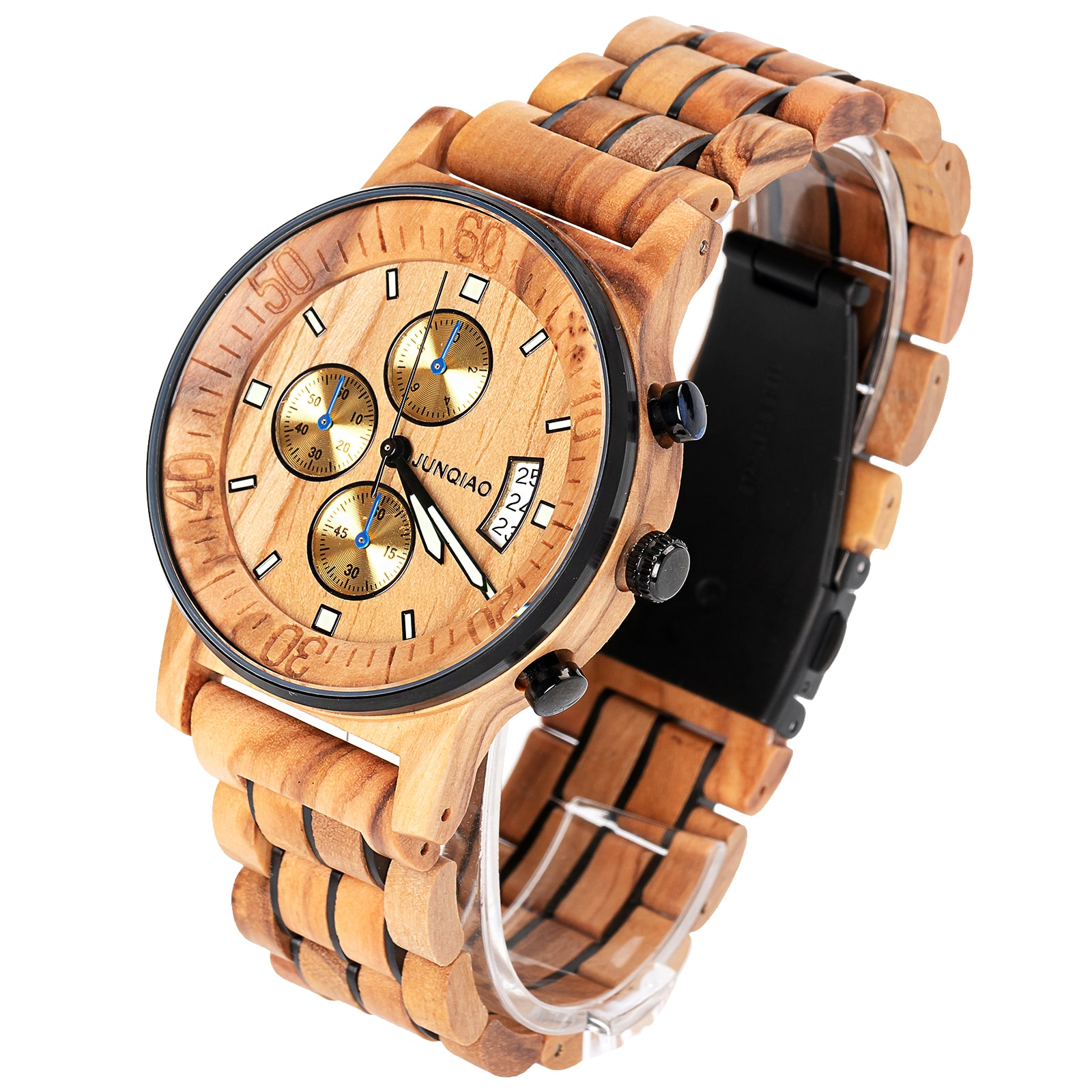 wood watch wrist watches men Quartz Wristwatch Chronograph Clock Male Fashion Sports men watches male hardlex Relogio Masculino