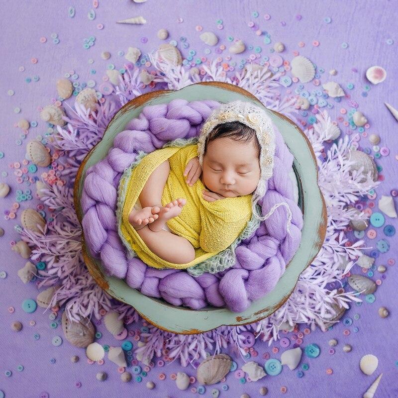 Photography Props Multicolor Solid Wood Tub Furniture Bed Newborn Props Baby Photography Accessory Studio Fotografia Accessories